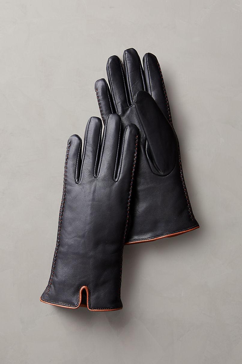 Women's Hollis Shearling-Lined Lambskin Leather Gloves