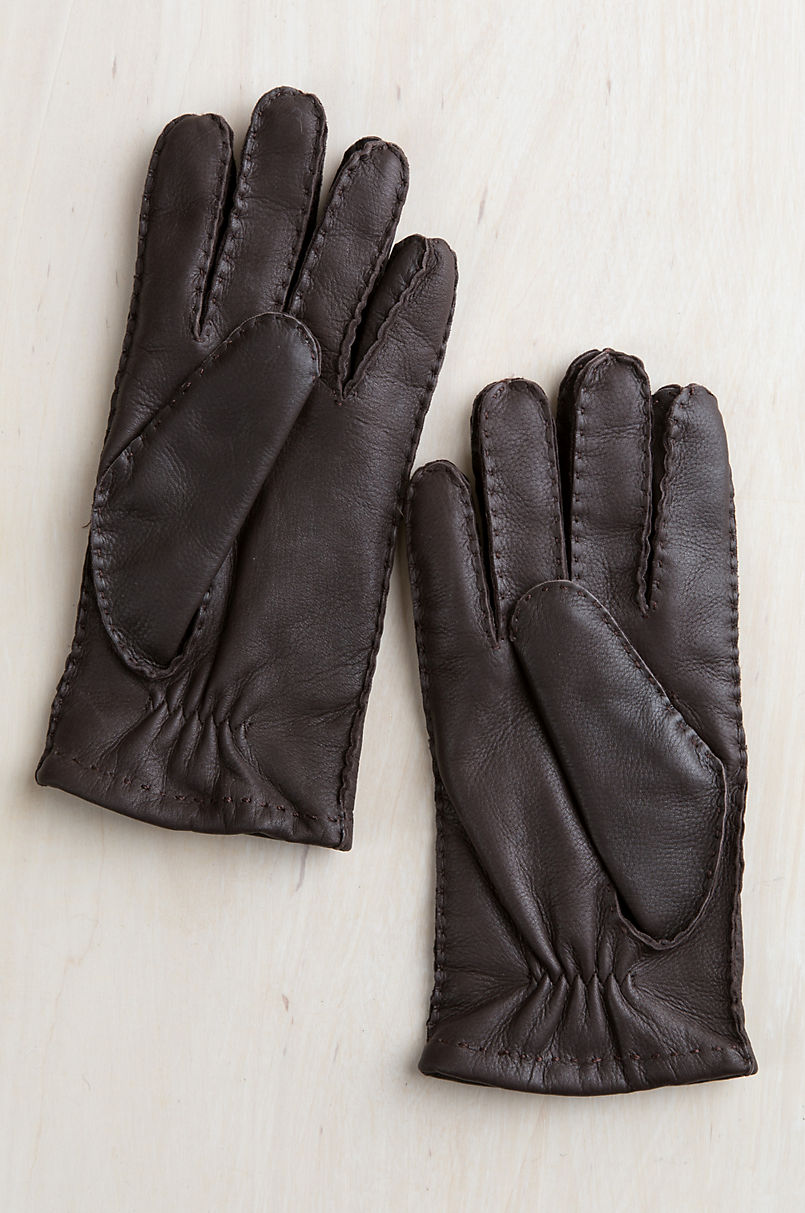 Men's Alder Cashmere-Lined Deerskin Leather Gloves