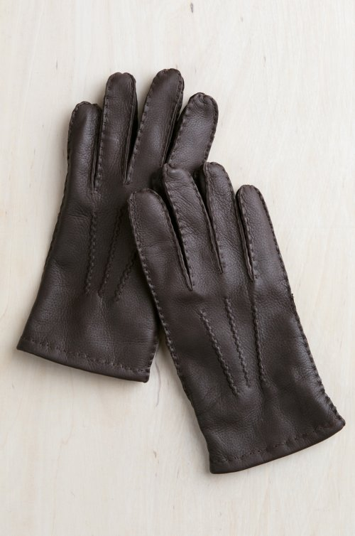 Men's Alder Cashmere-Lined Deerskin Leather Gloves