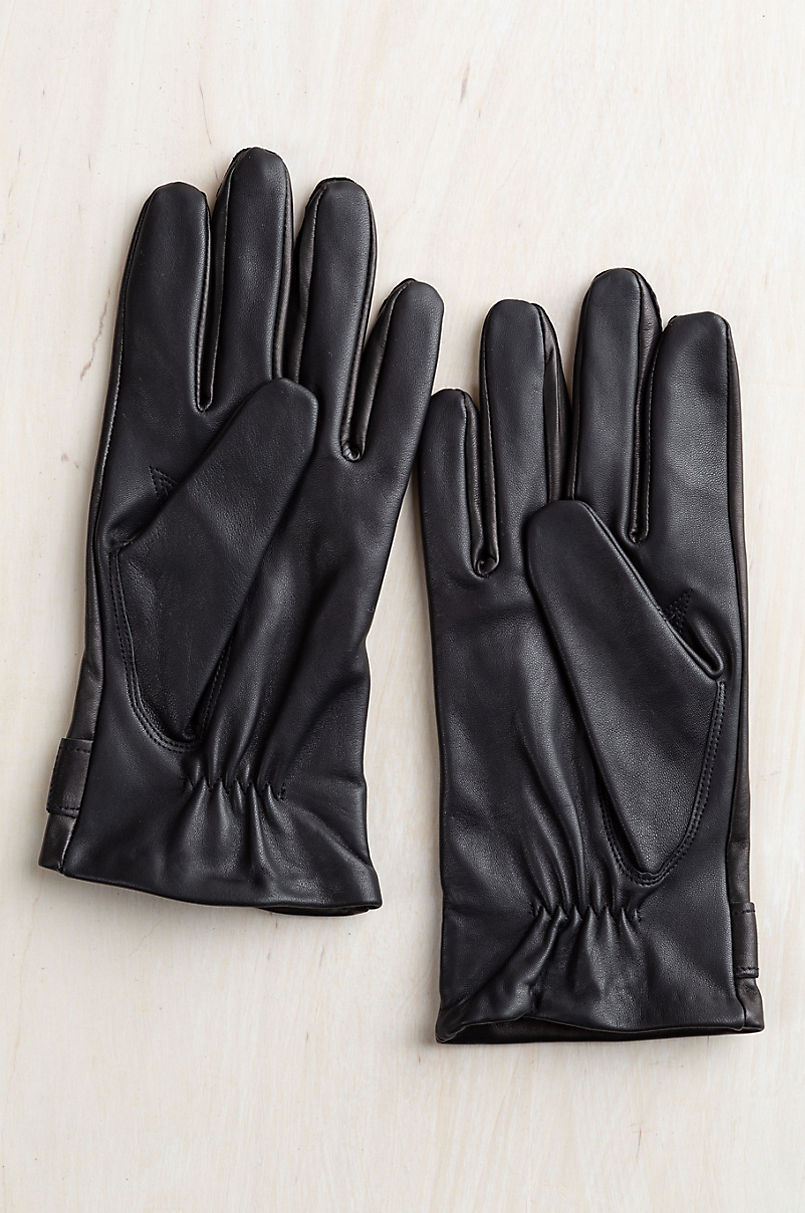 Men's Fraser Lambskin Leather Gloves with Silk Lining