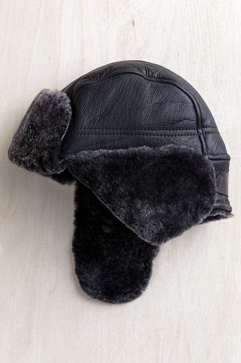 Spanish Shearling Sheepskin Trapper Hat