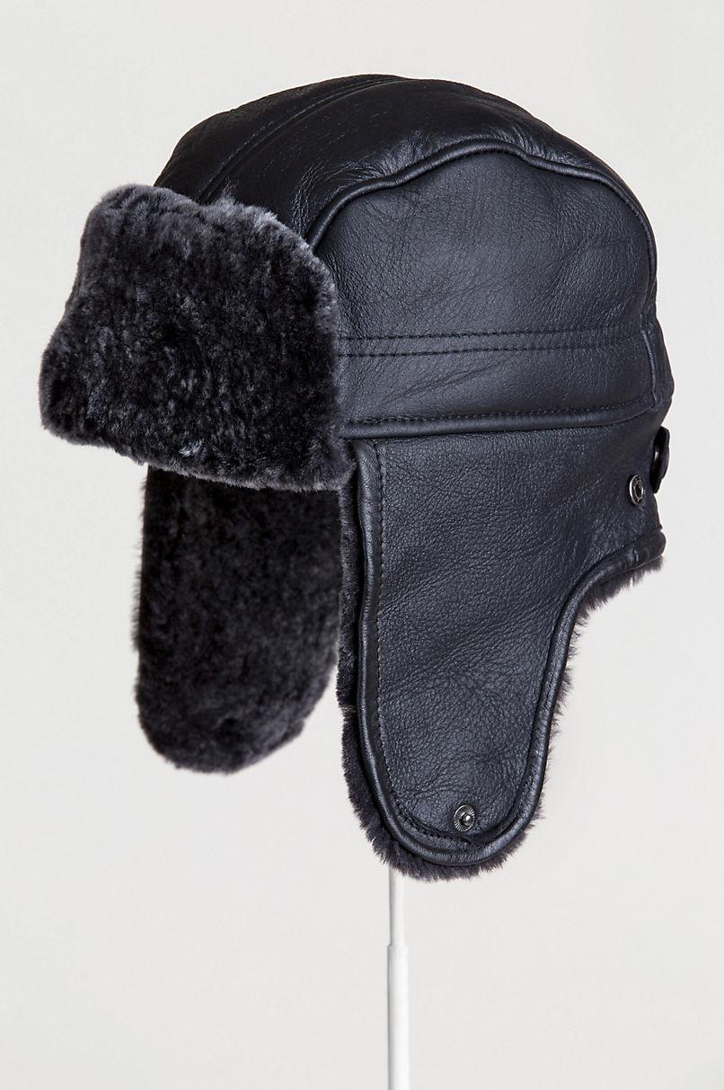 Spanish Shearling Sheepskin Trapper Hat