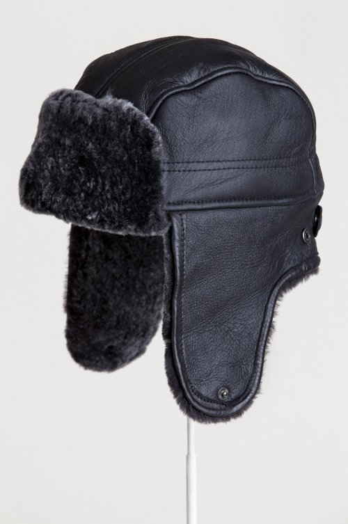456135cc Spanish Shearling Sheepskin Convertible Trapper Hat