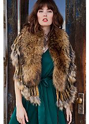 Raccoon Fur Shawl Collar