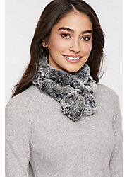 Alpina Rex Rabbit Fur Convertible Headband and Scarf