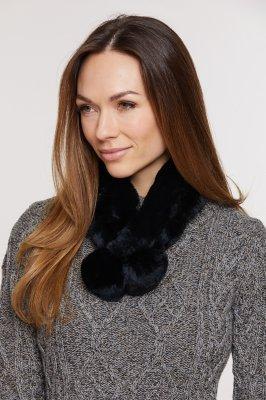 Alpina Rex Rabbit Fur Convertible Headband and Scarf