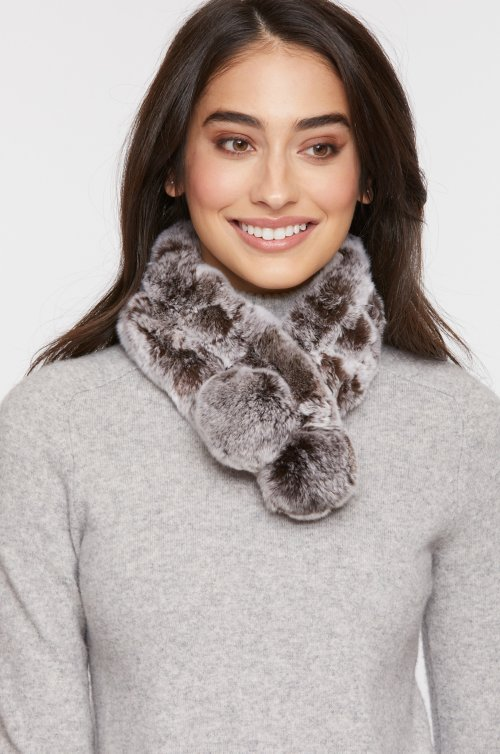 Alpina Rex Rabbit Fur Convertible Headband and Scarf e4ce034dc52a