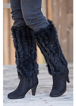 Knitted Rex Rabbit Fur Boot Toppers