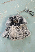 Rex Rabbit Fur Coat Keychain