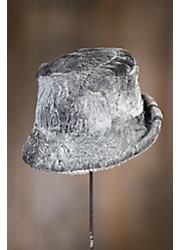 Curly Canadian Swakara Lamb Fur Cloche Hat