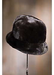 Canadian Mink Fur Cloche Hat