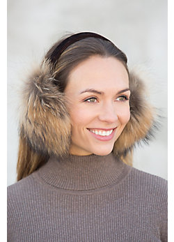 Finn Raccoon Fur Earmuffs