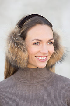 Finn Raccoon Fur Earmuffs