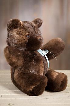 Sheared Beaver Fur Teddy Bear