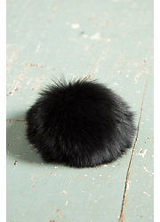 Fox Fur Pom Pom Pin
