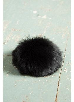 Fox Fur Pom Pom Pin