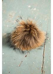 Finn Raccoon Fur Pom Pom Pin