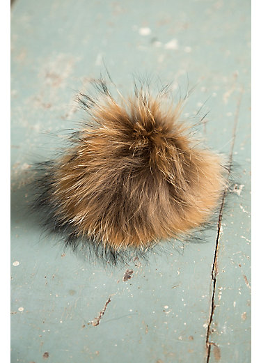 Finn Raccoon Fur Pom Pom Pin