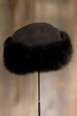 Russian Shearling Sheepskin Cossack Hat with Toscana Trim