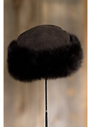 Russian Shearling Sheepskin Cossack Hat with Toscana Trim