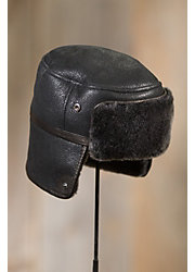Russian Shearling Sheepskin Trapper Hat
