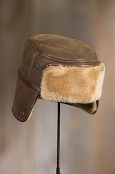 Russian Shearling Sheepskin Trapper Hat