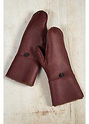 Women's Sheepskin Fingerless Gloves with Mitten Flap