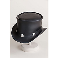 Steampunk Men's Hats Steampunk El Dorado Leather Hat with Buffalo Nickels BLACK Size ML  7 - 7 12 $167.00 AT vintagedancer.com