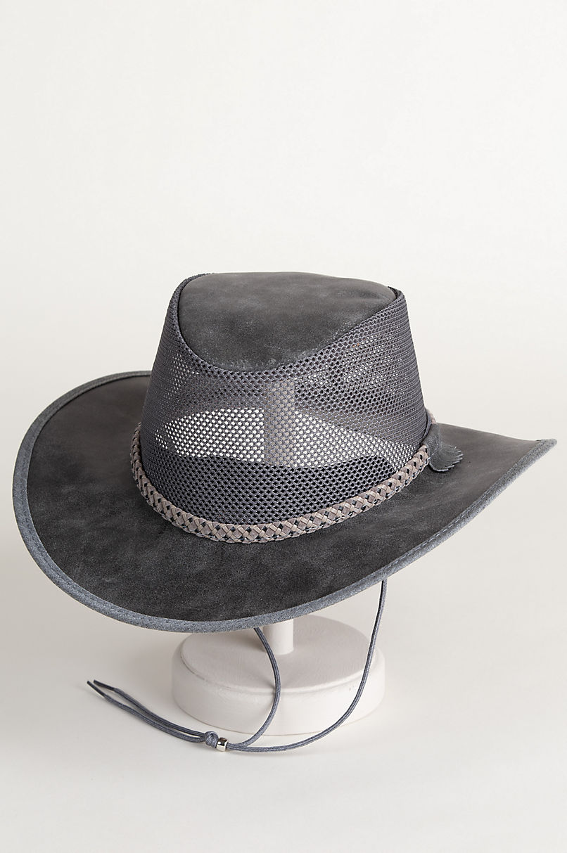 f69bec87 Monterey Bay Crushable Leather Breezer Western Hat