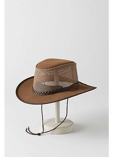 Monterey Bay Crushable Leather Breezer Panama Hat