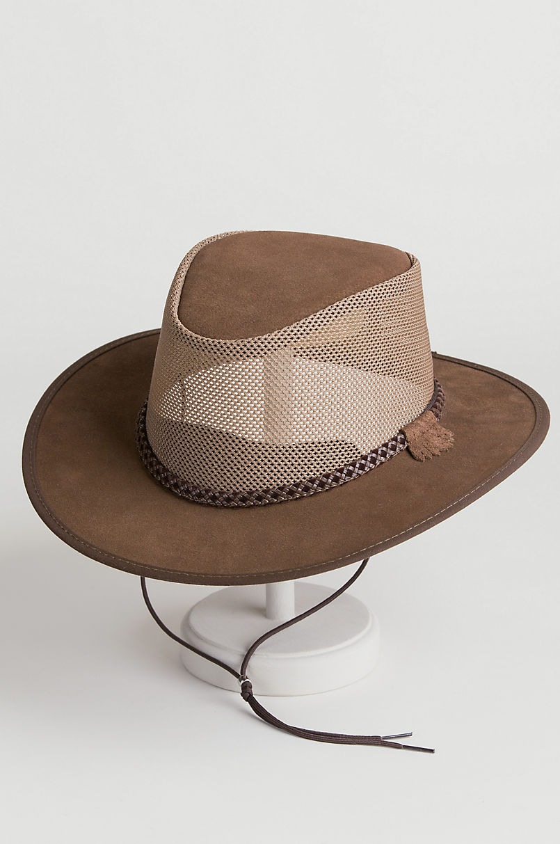 Monterey Bay Crushable Leather Breezer Western Hat  331f31cdd5d3