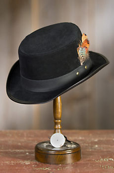 Steampunk Leather Stoker Hat
