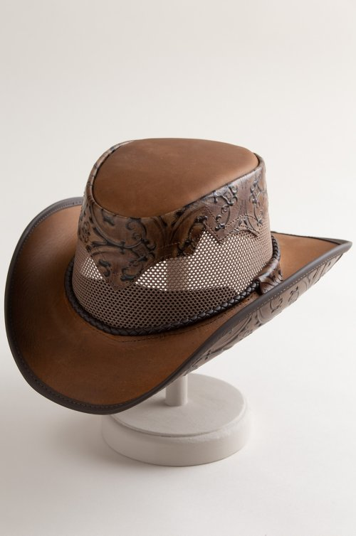 Sierra Leather Breezer Cowboy Hat