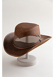 Durango Crushable Leather Breezer Gambler Hat