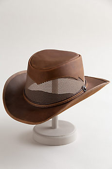 Durango Crushable Leather Breezer Gambler Hat