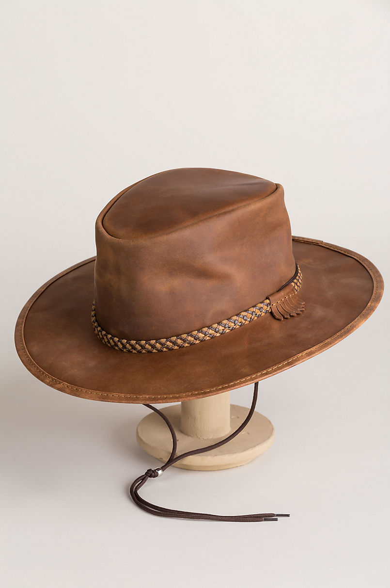 e25c592914c18 Rancher Crushable Oiled-Leather Cowboy Hat