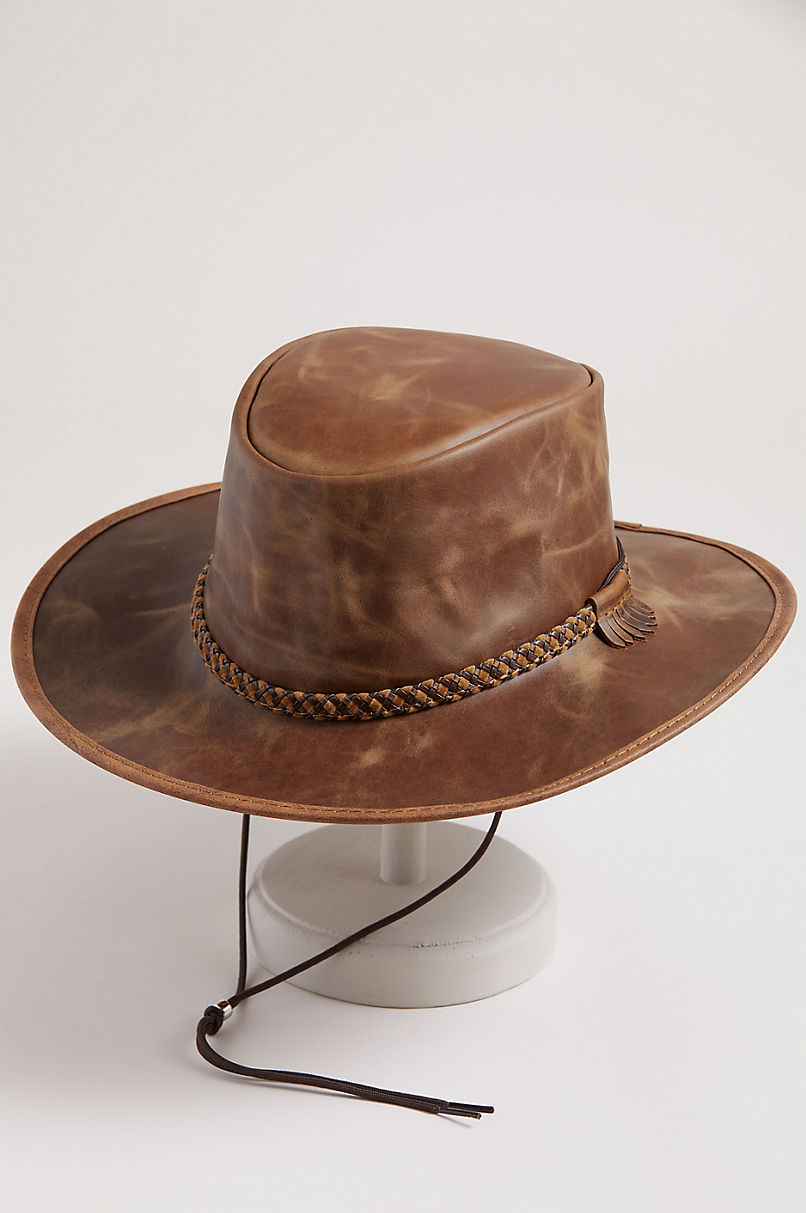 039fe9024e7 Rancher Crushable Oiled-Leather Cowboy Hat