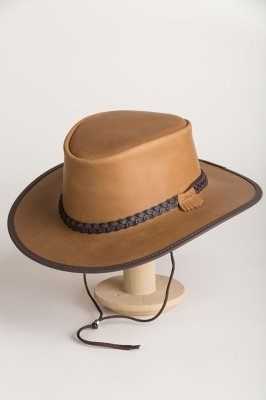 Bravo Leather Hat with Chinstrap