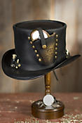 Steampunk Derringer Leather Top Hat