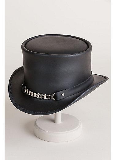 Steampunk El Dorado Leather Top Hat