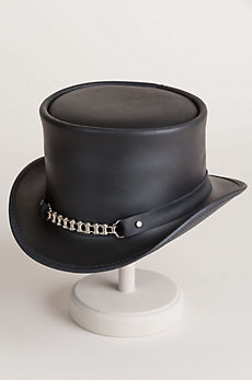 Steampunk El Dorado Leather Top Hat