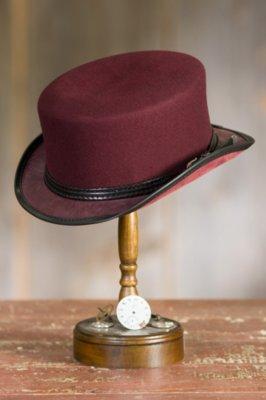Steampunk Danbury Felt and Leather Hat