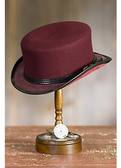 Steampunk Danbury Felt and Leather Hat