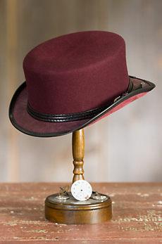 Steampunk Danbury Felt and Leather Top Hat