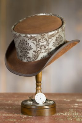 Steampunk Parlor Leather Hat