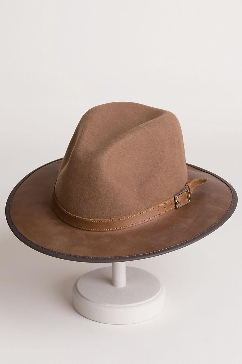 52fda29172571 Summit Wool Felt and Leather Safari Hat