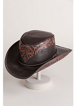 Falcon Hammered Leather Cowboy Hat