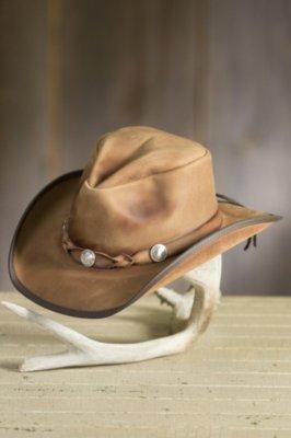 Comstock Buffalo Nickel Leather Cowboy Hat