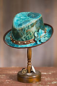 Maddy Marbled Leather Fedora Hat
