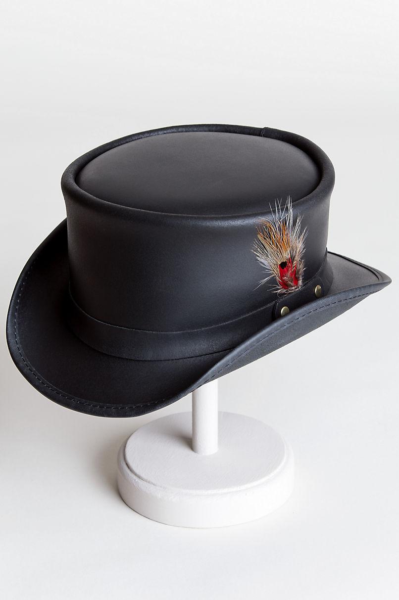 89b5bef9696bf ... switzerland steampunk victorian marlow leather top hat overland b694f  bda9b